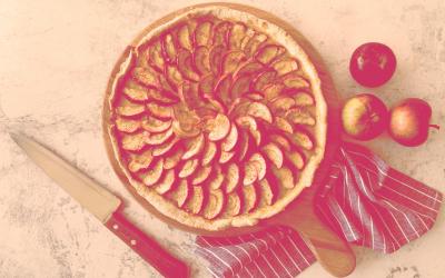 This pie tastes delicious